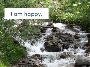 Ich bin glücklich
